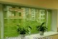 Зелёные горизонтальные жалюзи на окна