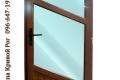 Металлопластиковые двери с бирюзовым стеклом
