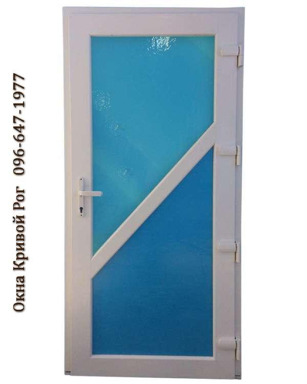 metalloplastikovye dveri krivoj rog sinie