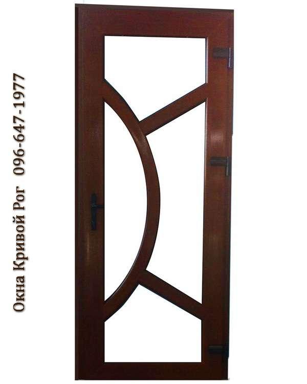 Металлопластиковые двери с гнутыми перемычками