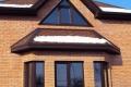 Коричневые окна в частный дом