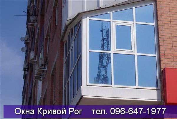 Окна в ламинации на пристроенный балкон