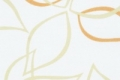 Оранжевые и салатовые листочки на голубоватом фоне. Тканевые жалюзи, модель Abris 02 Yellow
