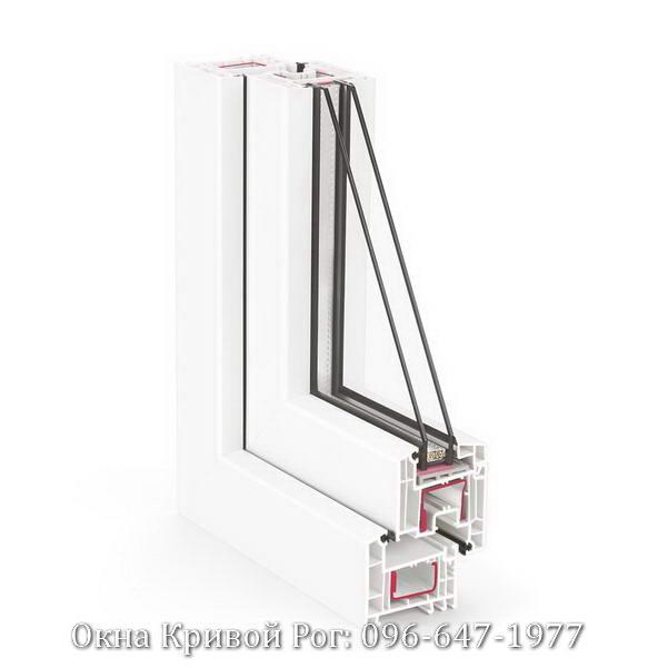 внешний вид профиля окна Rehau 70