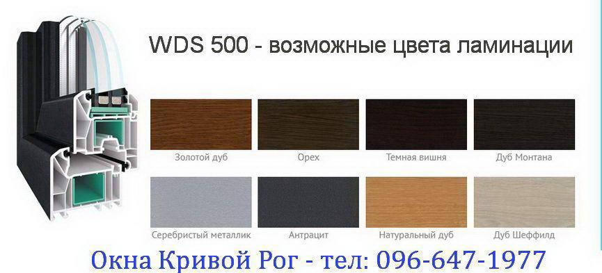 wds 500 - varianty laminacii