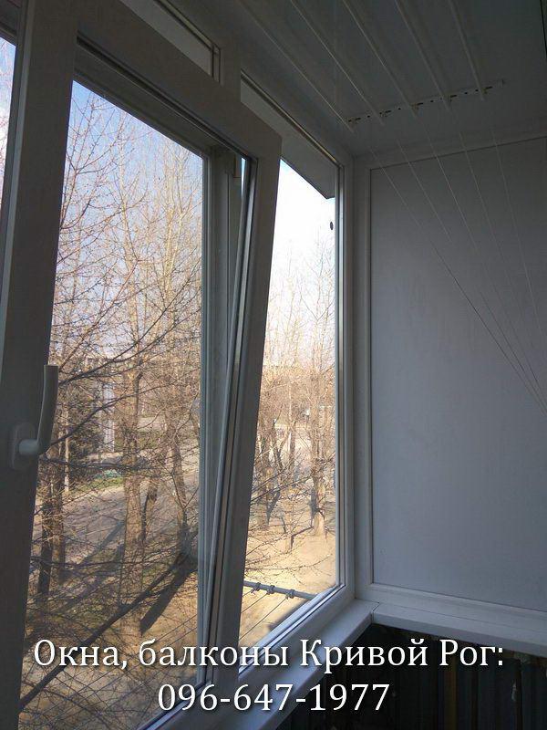 Поворотно - откидное окно в режиме проветривания