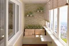 Балкон с индивидуальной мебелью
