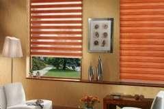Оранжевые тканевые жалюзи на окна День-Ночь. Установка в Кривом Роге
