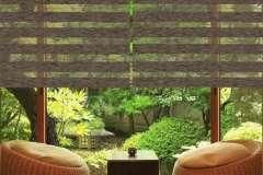 Жалюзи, тканевые роллеты на коричневые тканевые окна День-Ночь