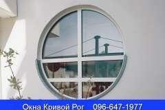 Круглое металлопластиковое окно с паралельными перемычками