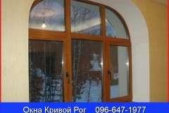 В компании Комфорт из Кривого Рога можно купить белые и коричневые окна со стандартными и нестандартными формами