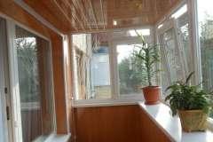 Ремонт балкона под ключ с расширением и обшивкой пластиковой вагонкой