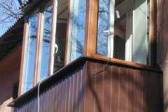 Балкон после ремонта с выполненной наружной обшивкой