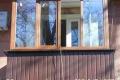 Коричневый цвет один из самых востребованных в Кривом Роге для обшивки балкона снаружи