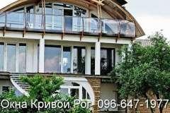 Окна Rehau в домах отдыха с нестандартными формами