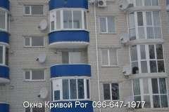 Остекление балконов окнами Steko