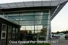 Остекление салонов окнами Steko