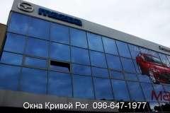 Остекление окнами Steko салона Мазда