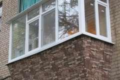 Одна из работ от компании Комфорт в Кривом Роге по расширению балкона