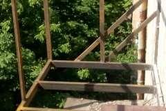 фото расширения балкона из профильной трубы в Кривом Роге