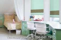Тканевые роллеты салатного цвета на окна