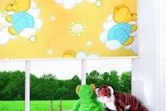Тканевые роллеты на окна с детским рисунком сказочных персонажей