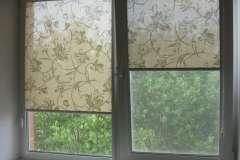 Зелёные рулонные шторы. Как Вам такой вариант?