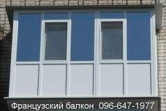 Французский балкон с голубой тонировкой