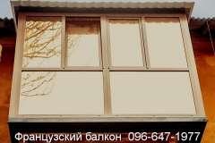 Коричневый Французский балкон
