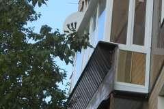 Остекление расширенного Французского балкона