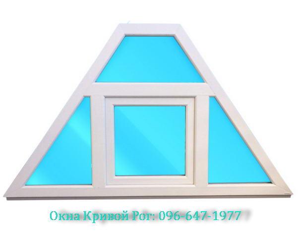 Пластиковые нестандартные окна Кривой Рог