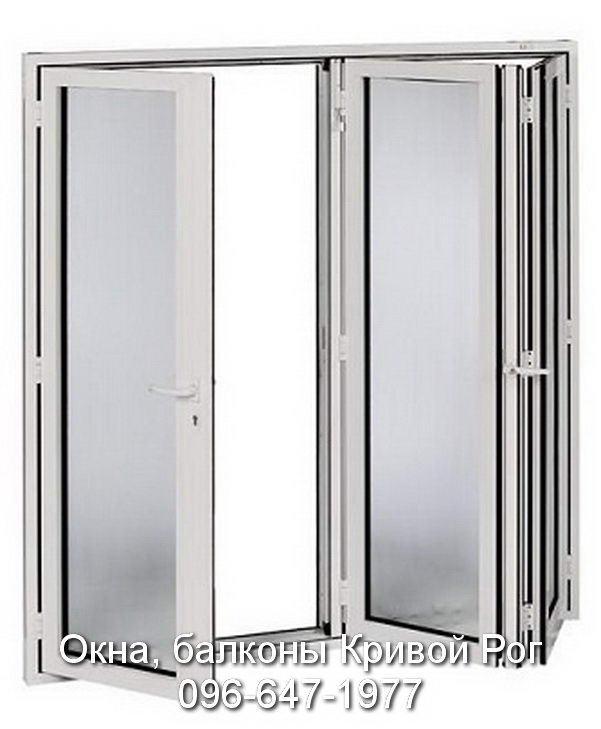 Окна двери гармошкой Кривой Рог
