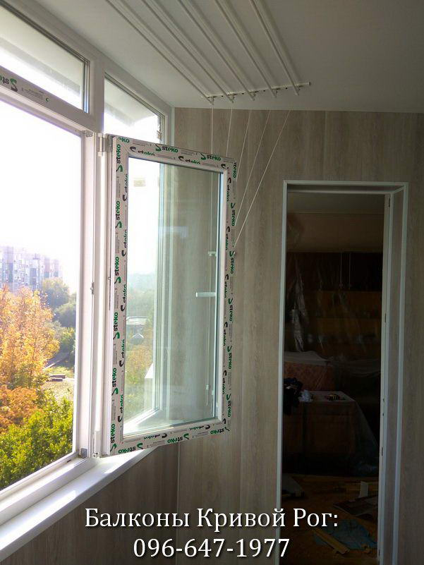Створка окна в поворотном положении