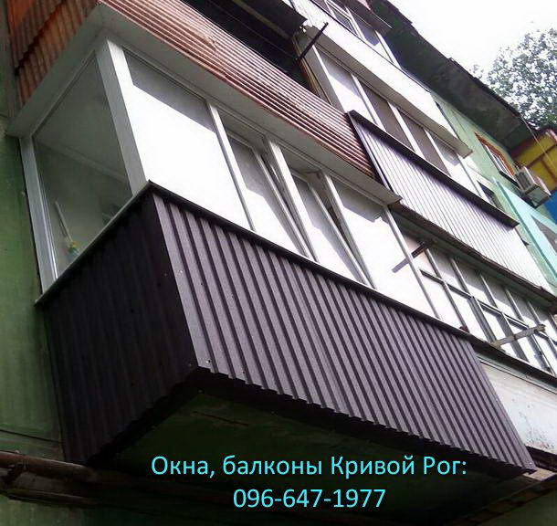 Классический вариант остекления балкона