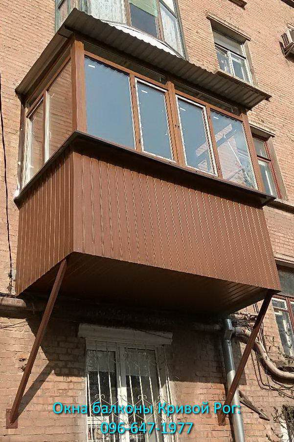 Обшить балкон профлистом Кривой Рог цена