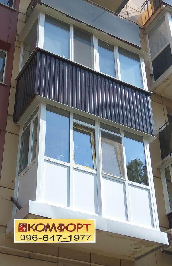 Металлопластиковые окна на Французский и классический балкон
