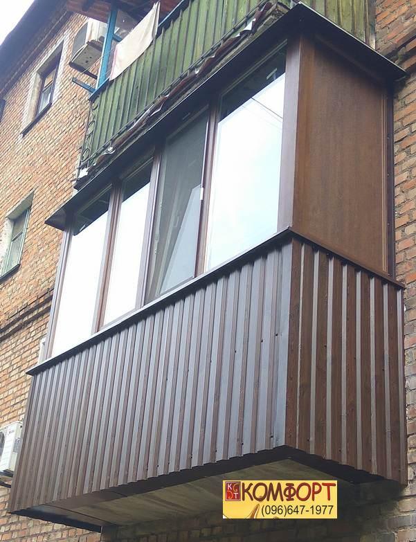 Трёхсторонняя (П-образная) балконная рама