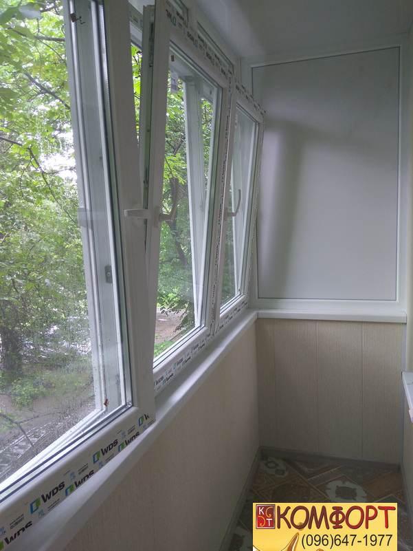 Балконная рама из профиля WDS