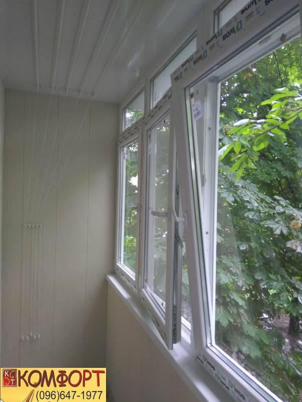 обшивка балкона пластиком цены