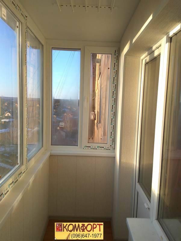 обшивка и утепление балконов пластиком