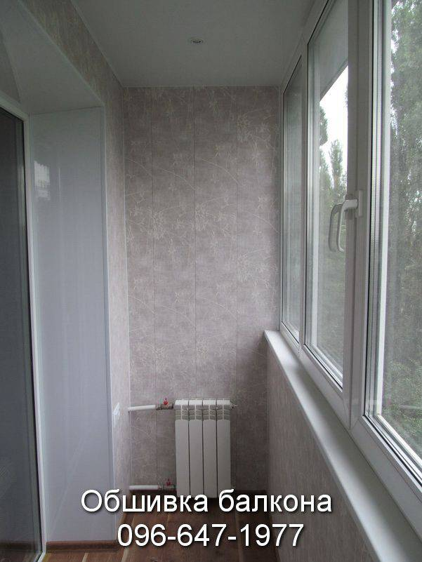 обшивка балкон пластиком цена