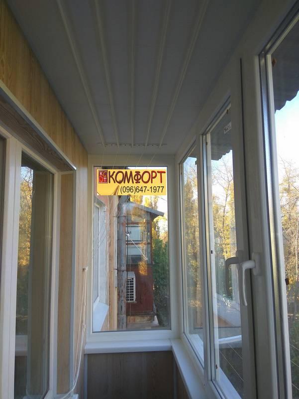 обшивка балкона пластиком потолок и стены