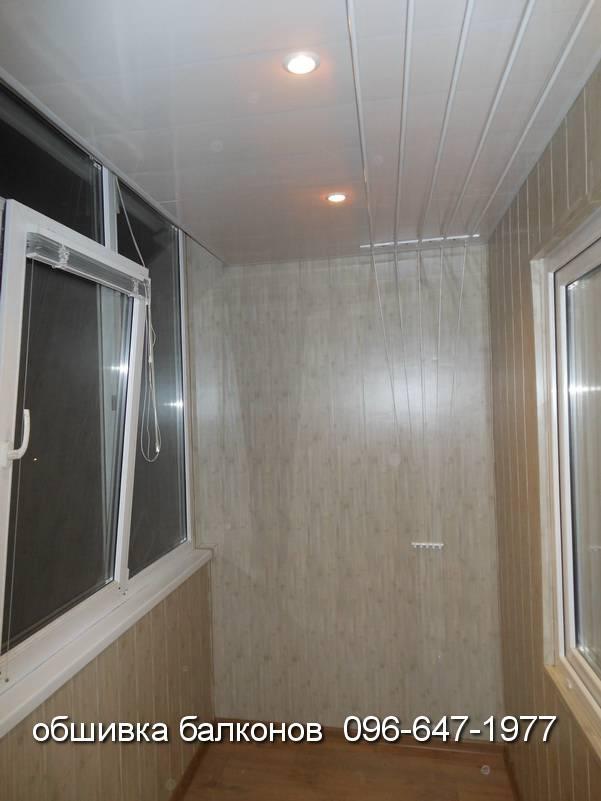 варианты внутренней обшивки балконов