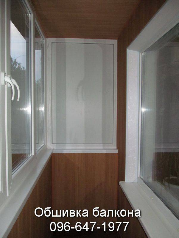 обшивка балкона пластиком снаружи фото
