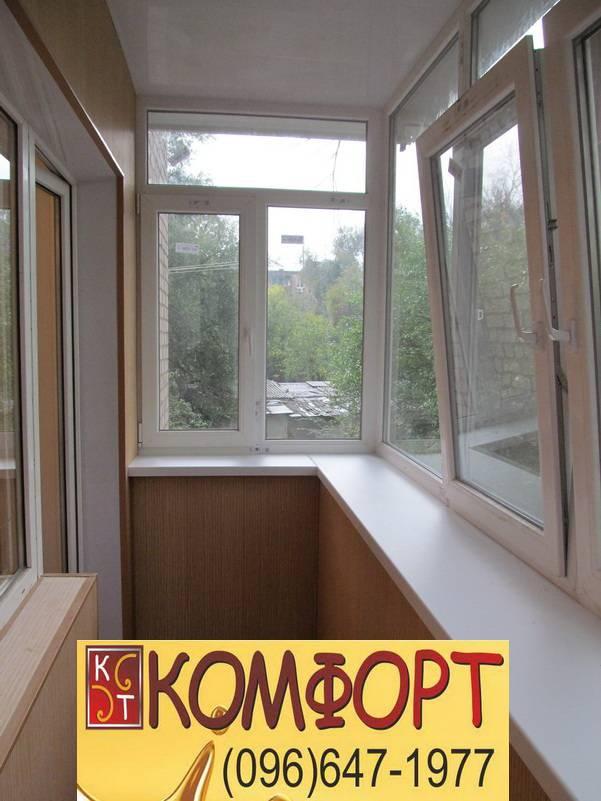 Внутренняя обшивка балкона