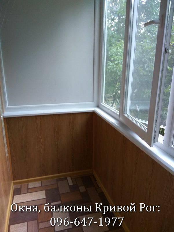 обшивка балконов внутри пластиком