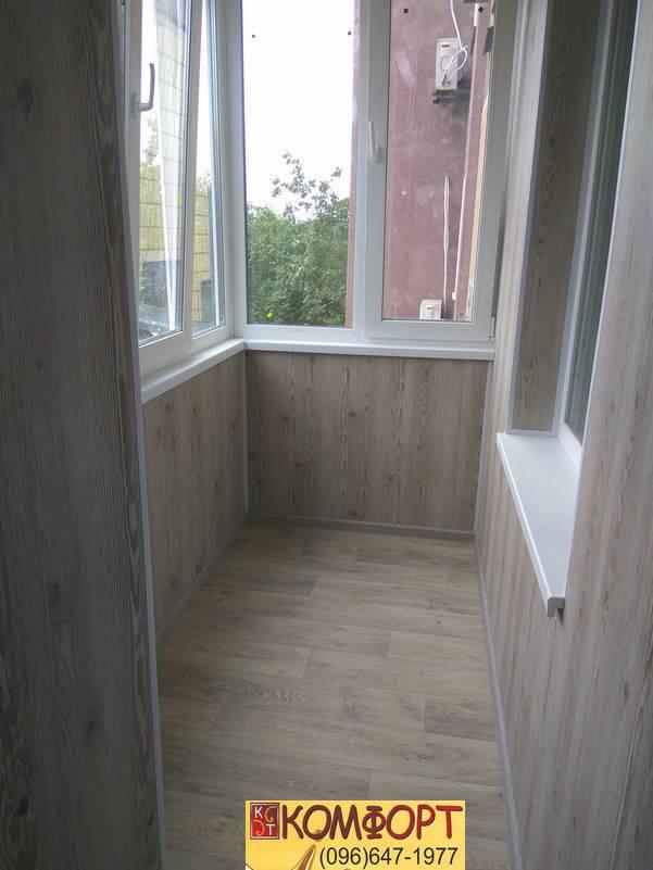 обшивка балкона пластиком пвх