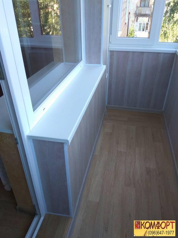 обшивка пластиком пвх балкона