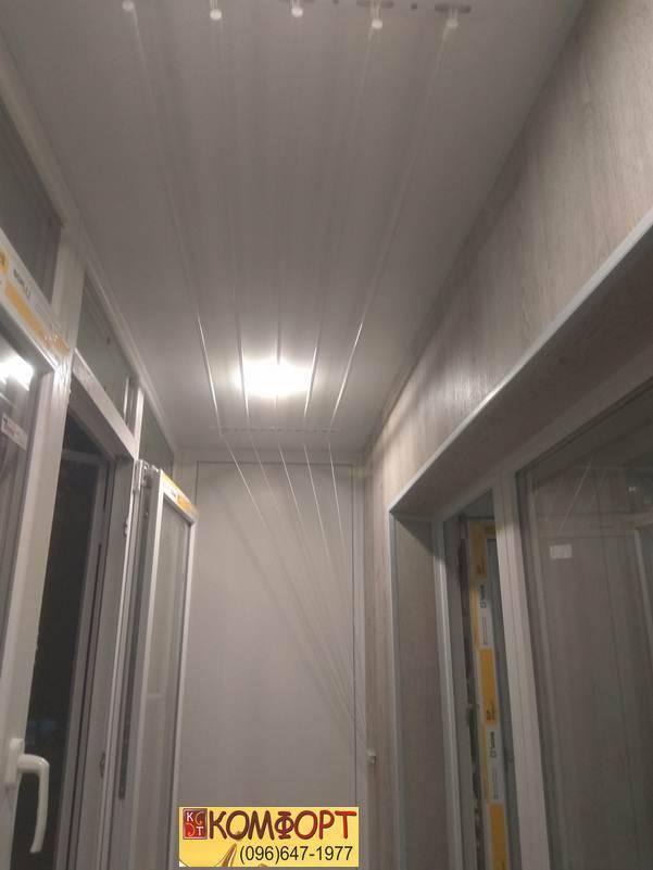 внутренняя обшивка балкона с освещением