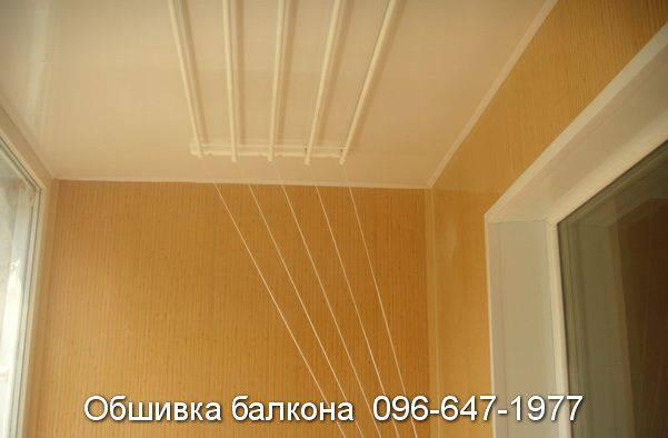 обшивка балкона светло коричневым пластиком